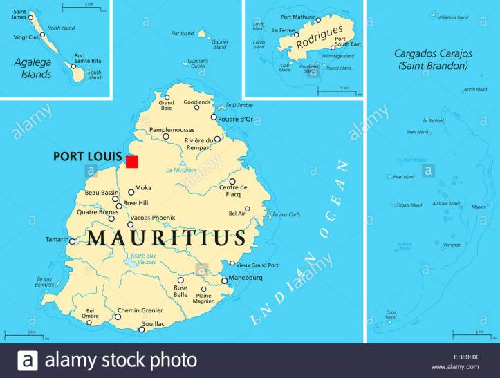 mauritius-political-map-with-capital-port-louis-the-islands-rodrigues-EB89HX